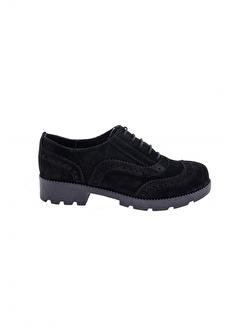 Modabuymus Modabuymus Hakiki Süet Deri Kadın Oxford Ayakkabı - Fogli